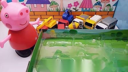 佩奇把迪士尼工程车打包