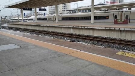 20191124 152811 西成高铁D1928次列车出汉中站遇G1887次,阳安线停金鹰轨道车