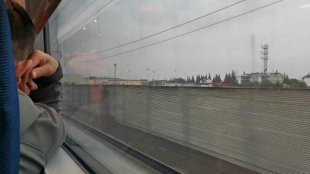 20191124 155243 G2216次列车通过洋县西站遇D1987次列车