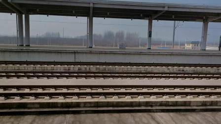 20200111 142201 G308次列车高速通过鄠邑站遇G1887次列车进鄠邑站