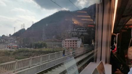 20200111 145157 G1887次列车高速通过佛坪站