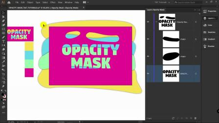 How to use OPACITY MASK - Illustrator Tutorial (Text Effect).mp4