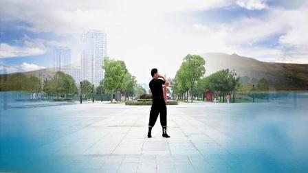 凤凰六哥广场舞 为你等待 藏族舞 背面