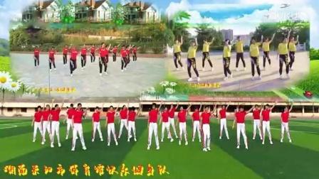 全国异地粉丝队合屏跳跳乐第20套晓敏快乐健身操第11节_标清
