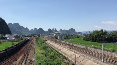 (贵广线高铁视频)CRH2A高速驶过贺州站