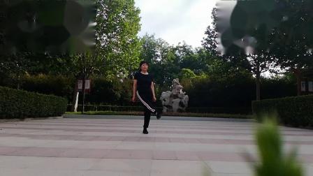 洪兰广场舞:单人吉特巴