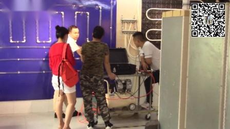 滚筒洗衣机拆却部分过程