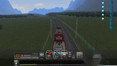 和谐中国模拟火车视频集沈大线快速列车双机HXD3D大连发车