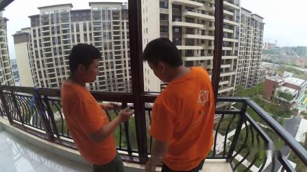 封阳台 在西南上城观山府安装富全门窗纪录