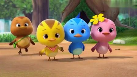 萌鸡小队:鸡妈妈用玉米给小鸡们做皮球,小鸡们玩的好开心呀!