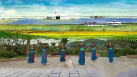 子龙明星队四川落花舞队《我在纳林湖等着你》