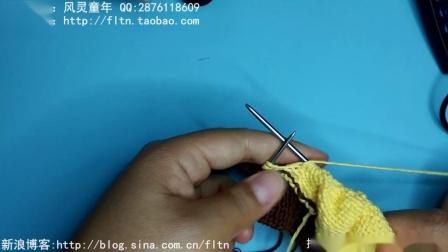 第100集-风灵童年-连体衣-插肩连体衣的织法二(主体的织法)