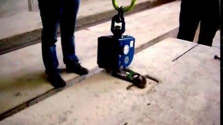 带有混凝土预制件起重附件的elebia自动起重机吊钩