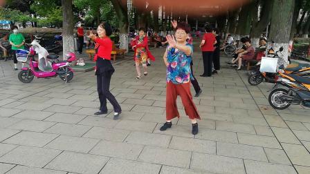 昆山夕阳美舞蹈队 舞蹯-吉特巴A套  媛媛 白白 琴琴2020.07.03