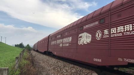 (广茂线火车视频)DF4B 3118牵引25206接近狮山道口