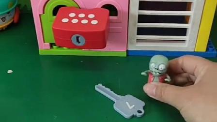 巨人僵尸抓了佩奇和小朋友,小鬼说他们很好,就把它们放了