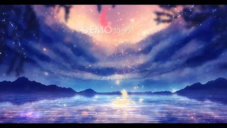 歌曲配乐 c580 唯美蓝紫色星空海洋梦幻月色歌舞表演诗词朗诵节目舞台LED背景视频 背景视频