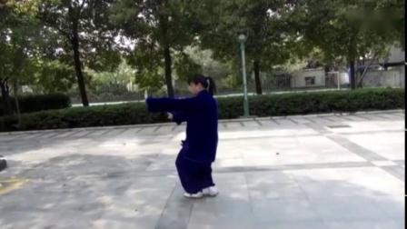 俞霄潇(全国冠军)陈氏太极拳56式正面慢动作
