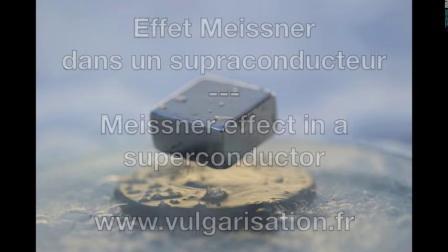 高温超导体中的迈斯纳效应视频