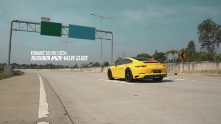 Porsche 911 Carrera 升级 ARMYTRIX 全段阀门排气套件。