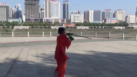 安康海玲武术专辑--《赵堡太极剑45式》晨练视频(翰墨愚士摄制)