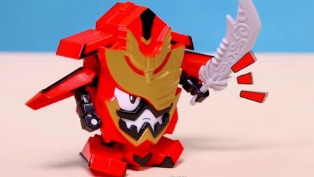 传奇巨龙王变成机器人形态,机甲一体传奇合体传奇巨龙王变身