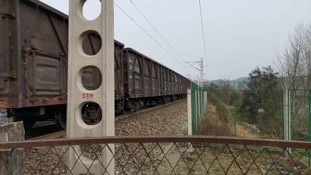 【60帧拍摄】20200118 161637 阳安线HXD2货列通过青羊驿站西