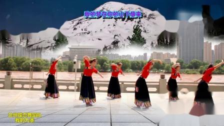 兰州蝶恋舞蹈队:藏族舞《我的九寨》6人团队版