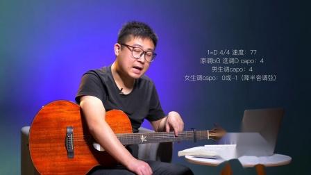 《红尘来去一场梦》吉他弹唱教学D调入门版 高音教