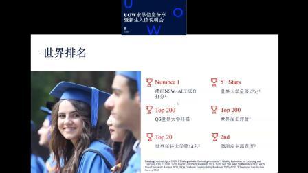 伍伦贡大学2020年8月学期新生入读说明会:注册流程讲解以及问答环节