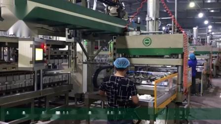 华工环源大功率全自动纸浆模塑成型机、纸质餐具生产线