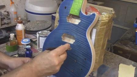 LP电吉他油漆制作步骤与效果