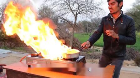 趣味实验:外国小哥把油漆倒进锅里煮,结果场面瞬间失控!