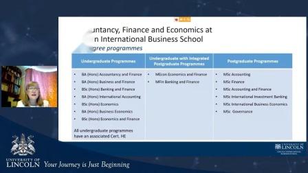 英国林肯大学Accountancy, Finance and Economics专业介绍