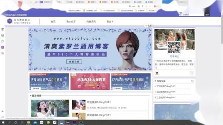 zblog清爽紫罗兰个人博客模板运营和使用方法.mp4