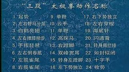 陈思坦三段(二十四式)太极拳正面演练_标清