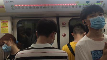2020年7月25日,本务广州地铁集团,广州地铁广佛线B3型列车(GF×011-012)执行(新城东~沥滘)交路,在(菊树∽西塱)区间运行