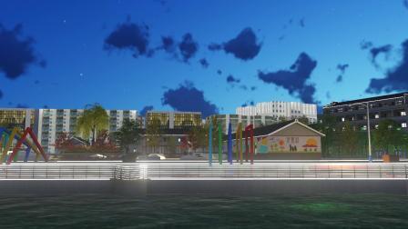 龙港市炉头村规划夜景