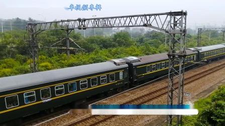 实拍京沪线:,上午全是下行线,赶到到上海去掉头…