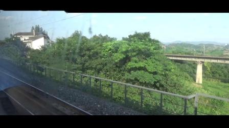 【中国铁路】达三小慢车 5616次 渡市-达州区间 右侧方展望