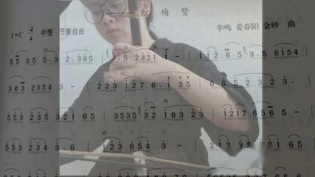 《红梅赞》教学,注意这里节奏类似连弓却不一样哦
