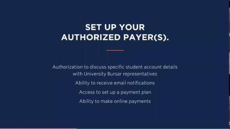 University Bursar   Info for Parents