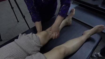 周海燕伸筋手法切筋治疗学员膝盖膝关节疼痛问题手法_超清