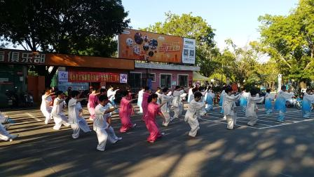 24式太极拳-8月8日全民健身日梅州市太极拳健身协会集体表演。
