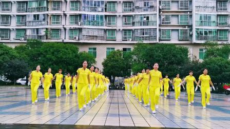 中国新时代台州辅导站五支队共同演绎新时代第五套有氧健身操