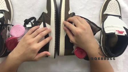 Air Jordan 1倒钩真假对比 特供版 市面常见版本对比 测评