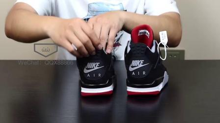 AJ4黑红 复刻莆田鞋最高版本对比ZP及细节分析
