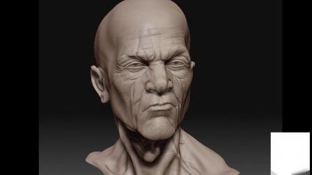 ZB人物头部模型雕刻制作