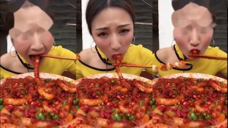美女直播:吃爆辣粉耗子,这是吃不够的节奏啊