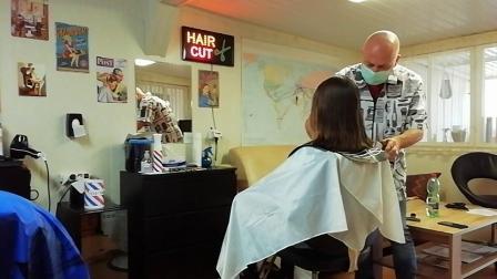 Long to bob haircut